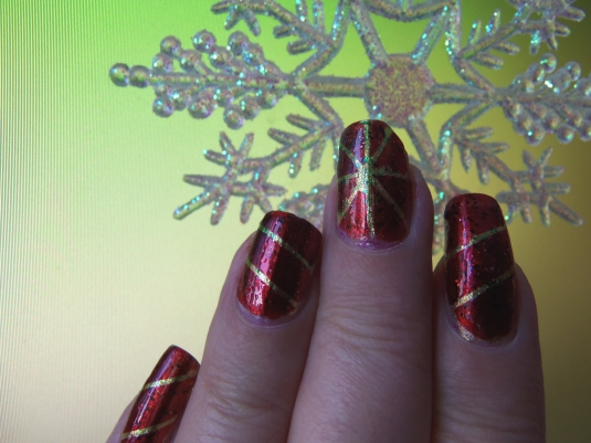1 - Opal's Gems - Christmas Wrap nails