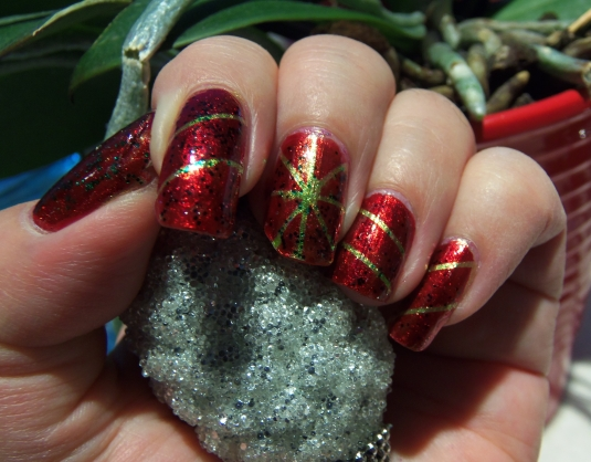 10 - Opal's Gems - Christmas Wrap nails
