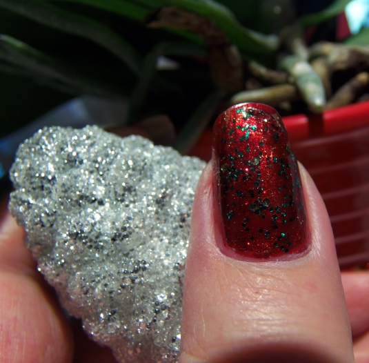 11 - Opal's Gems - Christmas Wrap nails