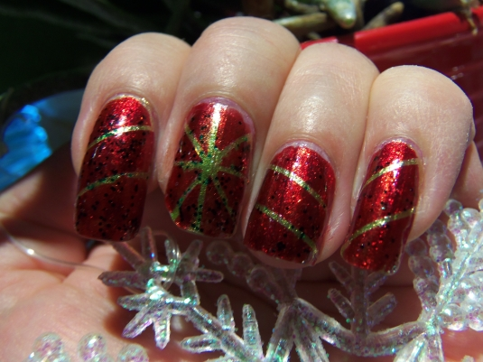 9 - Opal's Gems - Christmas Wrap nails